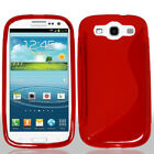 For Samsung Galaxy S3 9300 TPU Rubber S-Style Slim Grip Cover Case Skin