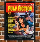 Framed Pulp Fiction Movie Poster A4 / A3 Size Mounted In Black / White Frame -
