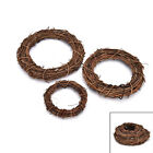 1Pcs Christmas Natural Dried Rattan Wreath Xmas Garland Door Wall Decor HU