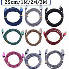 Braided Rapid Charge Micro USB Cable Fast Charging Cord For Samsung Android Lot