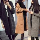 Womens Lady Colorful Long Sleeve Knitted Cardigan Loose Sweater Jacket Coat
