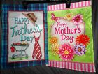 Mother's Day or Father's Day Garden Flag!! 12 X 18! Includes Metal Stand!! NEW!!