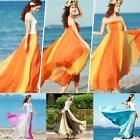 ACEVOG Fashion Bohemia Style Ladies Women Multi-way Strapless Chiffon Long B20E