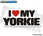 Yorkie I Love My Dog Decal Yorkshire Terrier Dogs Car Truck Window Sticker HGV