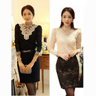 Nice Elegant Charming Women's Korean Lace Slim Hot Long Sleeve Shirt Tops Blouse