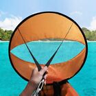 """43"""" Kayak Wind Paddle Sailing Popup Board Sail Rowing Downwind Boat Clear Window"""