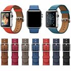 100% Original apple Classic Leather Buckles Strap 38MM 42mm S/M M/L All Colours