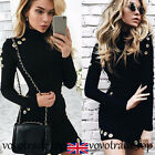 Fashion Womens Long Sleeve Bodycon Dress Package Hip Prom Party Cocktail Dress