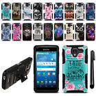 For Kyocera Hydro View C6742/ Shore Hybrid Heavy Duty Kickstand Case Cover + Pen