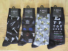 MENS K BELL SOCKS SOX Lawyer Handyman Eye Doctor Bee Keeper Size 10-13 U Choose