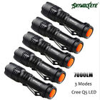 7000LM CREE Q5 AA/14500 3 Modes ZOOM LED Flashlight Torch Lamp Super Bright lot