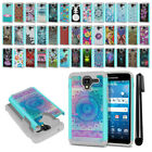 For Kyocera Hydro View C6742/ Shore Hybrid Bumper Shockproof Case Cover + Pen