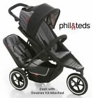 Phil and Teds Dash Buggy With Doubles Kit Black
