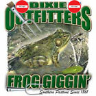 "Dixie Outfitters Hunting "" FROG GIGGIN' "" 50/50 Gildan/Jerzees T SHIRT"