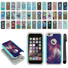 "For Apple iPhone 6/ 6s 4.7"" Hybrid Bumper Shock Proof Hard TPU Case Cover + Pen"