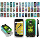 For Motorola Moto E LTE 2nd Gen 2015 Hybrid Bumper Shockproof Case Cover + Pen