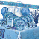 AGE 21 - Happy 21st Birthday BLUE GLITZ - Party Range, Banners & Decorations