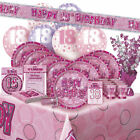 AGE 18 - Happy 18th Birthday PINK GLITZ - Party Range, Banners & Decorations