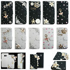 For Wiko Phone Leather Case Bling Crystal Rhinestone Diamond Wallet Cover TY1