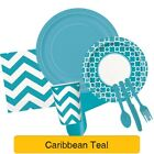 CARIBBEAN TEAL Party TABLEWARE Disposable Birthday Supplies Balloons (Turquoise)
