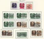 Zara stamps 1943 MI 21+32-33+35-36I-IV+Due 30  CANC  VF CAT VALUE $680