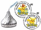 108 POKEMON PIKACHU BIRTHDAY PARTY FAVORS HERSHEY KISS KISSES LABELS