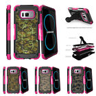 For Samsung Galaxy S8 G950 (2017) Clip Stand Pink Case Abstract Camouflage