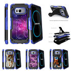 For Samsung Galaxy S8 G950 (2017) Clip Stand Blue Case Heavenly Stars