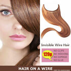 HIDDEN HALO INVISIBLE WIRE FLIP WEFT IN 100% REMY HUMAN HAIR EXTENSION FULL HEAD