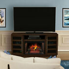 Harrison Infrared Electric Fireplace TV Stand in Cherry