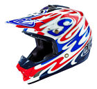 Troy Lee Designs SE3 Reflection 2016 MX/Offroad Helmet White/Red/Blue