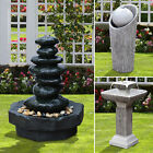 Contemporary Garden Fountain Waterfall Feature Cascade Sphere Stack Antique LED