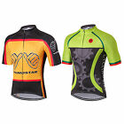 Men's Cycling Jersey Pro Team Sports Bike Half Sleeve Clothing Green Gear S-3XL
