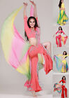 Soft Chiffon Waist Wings Gradient Color Belly Dance Costumes Hip Scarf Belt