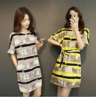New Fashion Women Summer Short Sleeve Evening Party Cocktail Casual Mini Dress