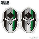 Thin Green Line Sticker Canada Subdued Flag Spartan Canadian Decal SET TCS