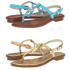 Michael Kors Womens Sondra Thong Buckle Casual Slip-On Ankle Strap Flats Sandals