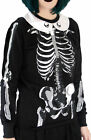 Fearless Illustrations CREEPY CAGE Skeletal Ribcage Skull Pullover SHIRT Gothic