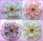 MAGNETIC ORGANZA RIBBON BABY REBORN DOLL HAIR BOW PINK WHITE LAVENDER IVORY RED