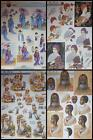 A4 3D Paper Tole Decoupage Japanese African Tribal Lady with Fan Scarecrow Man