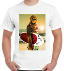 Surf Chewbacca Mens Funny Surfing T-Shirt Star Wars Chewy Jedi Darth Vader Yoda £7.95 GBP