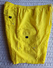 NWOT Mens BIG Board Shorts Swim Trunks Neon Yellow KING SIZE Lined