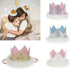 Newborn Boys Girls Glitter Faux Rabbit Hair Crown Stretchy Headband Hair Band