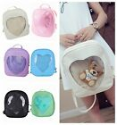 Ladies Womens Transparent Heart Shaped Backpack Schoolbag Travel Hiking Bags New