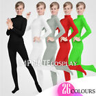 Unisex Lycra Spandex Unitard Mock Neck Long Sleeves Full Foot Elastane Bodysuit