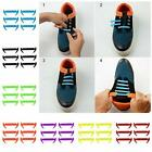 12Pcs Cool Elastic Silicone No Tie Lazy Shoelaces Shoe Lace Set for Kids Adults