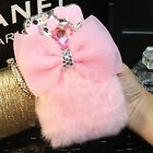 Luxury Winter Warm Soft Furry Rabbit Fur Bling Case Cover For iPhone 6S 7/Plus
