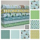ROCKY MOUNTAIN - 100% COTTON FABRIC bear tree blue green forest FQ metre Bundle