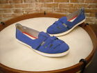 BareTraps Astaire Royal Blue Canvas Slip on Fisherman Shoe NEW