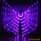 rechargeable LED isis wings belly dance cosplay club light up costume sticks bag